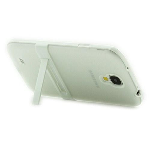 Microsonic Standlı Soft Samsung Galaxy S4 Kılıf Beyaz