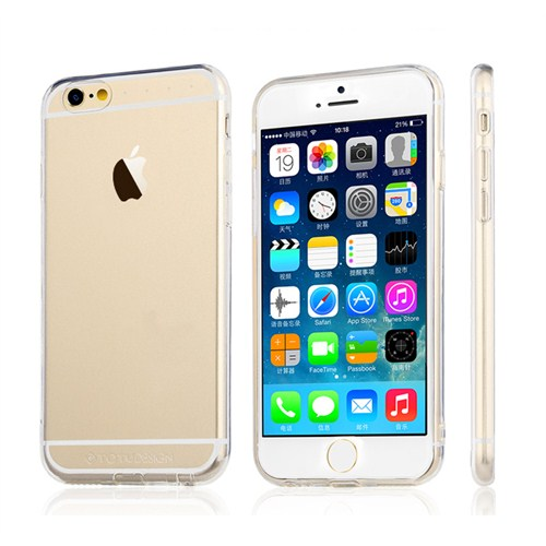 TotuDesign Apple iPhone 6 Plus Kılıf Clear Soft Series Transparant Thin