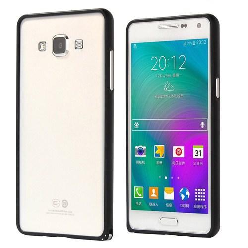 Microsonic Samsung Galaxy A3 Thin Metal Çerçeve Kılıf Siyah