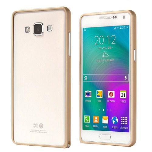 Microsonic Samsung Galaxy A5 Thin Metal Çerçeve Kılıf Sarı