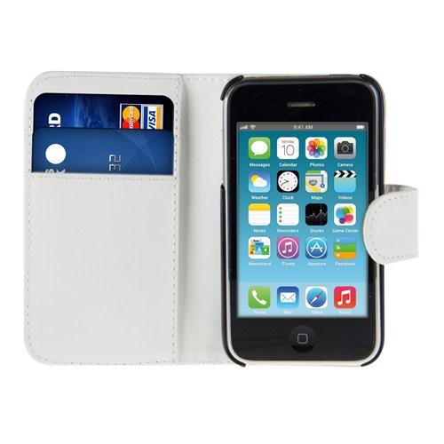Microsonic Cüzdanlı Deri İphone 3Gs Kılıf Beyaz