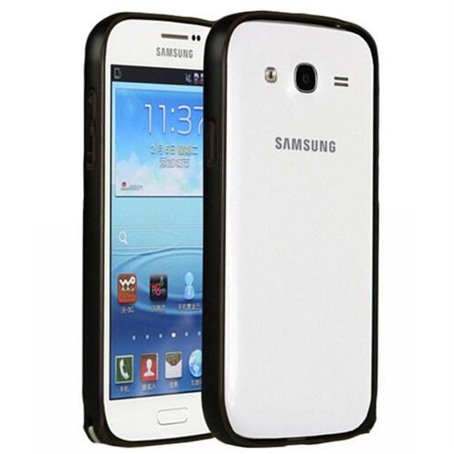 Microsonic Samsung Galaxy Grand İ9082 Thin Metal Bumper Çerçeve Kılıf Siyah
