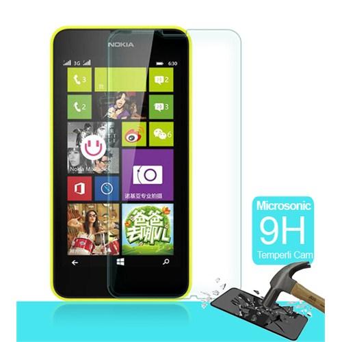 Microsonic Temperli Cam Ekran Koruyucu Nokia Lumia 630 Kırılmaz Film