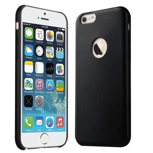 Microsonic Slim Leather İphone 6 (4.7'') İnce Deri Kılıf Siyah