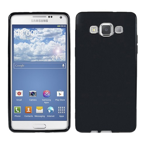 Microsonic Glossy Soft Samsung Galaxy A3 Kılıf Siyah