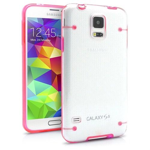 Microsonic Hybrid Transparant Samsung Galaxy S5 Kılıf Pembe