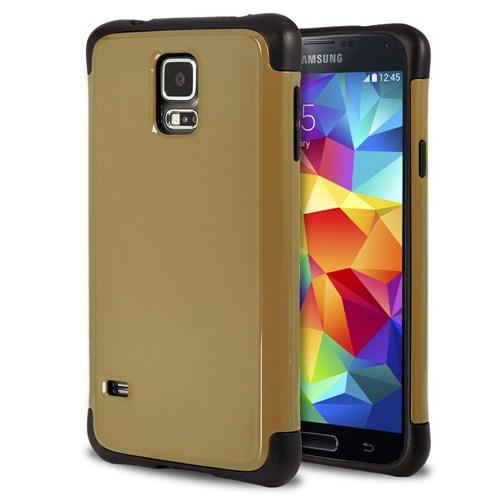 Microsonic Slim Fit Dual Layer Armor Samsung Galaxy S5 Kılıf Sarı