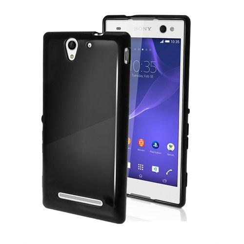 Microsonic Glossy Soft Sony Xperia C3 Kılıf Siyah
