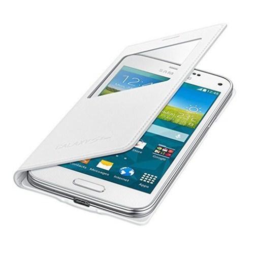 Microsonic View Cover Delux Kapaklı Samsung Galaxy S5 Mini Kılıf Akıllı Modlu Beyaz
