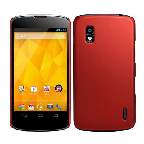 Microsonic Rubber Kılıf Lg Galaxy Nexus 4 E960 Kırmızı