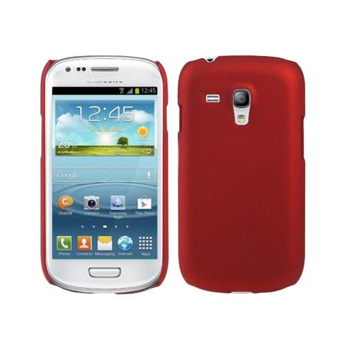 Microsonic Rubber Kılıf Samsung Galaxy İ8190 S3 Mini Kırmızı