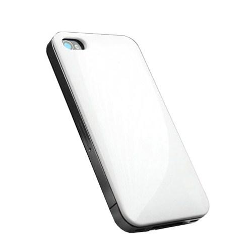 Microsonic İphone 4S Kredi Kartı, Ulaşım Kartı Taşıyan Rubber Kılıf Beyaz