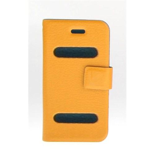 Microsonic İphone 4 Ultra Slim Smart Case Deri Kılıf Turuncu