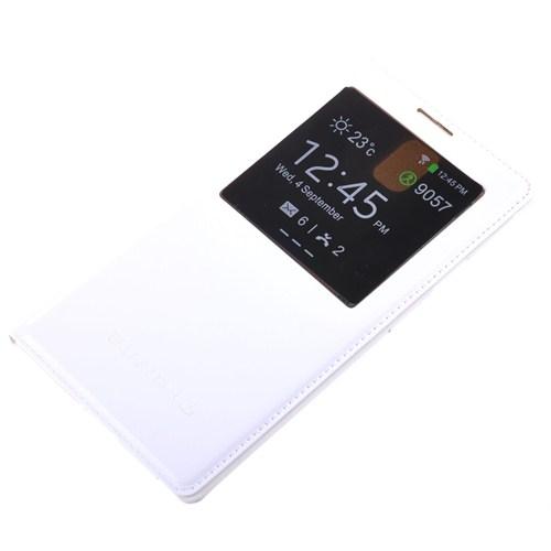 Qapak Samsung Galaxy Note 3 Pencereli Flipcover Kılıf Beyaz uz244434003530