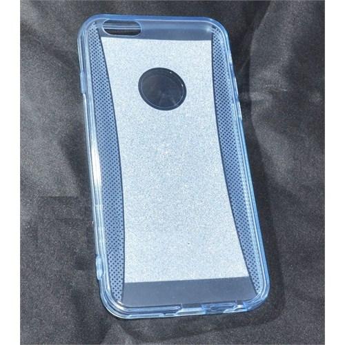 Qapak iPhone 6 Simli Silikon Kapak Mavi uz244434009471