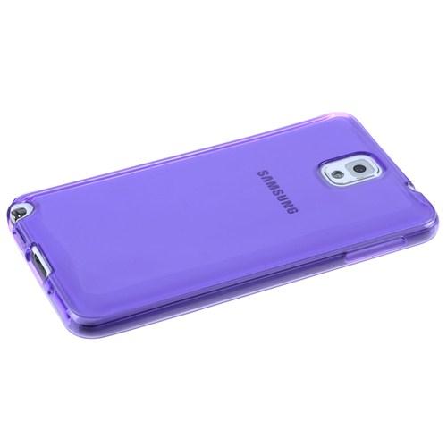 Qapak Samsung Note 4 (0,2mm) Silikon Kapak Mor uz244434009570