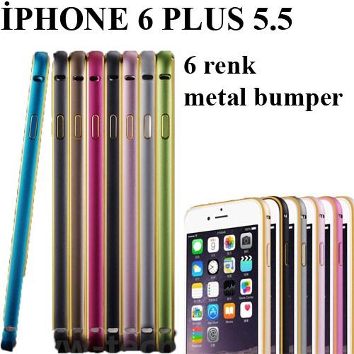 Markacase İphone 6 Plus Metal Bumper Kılıf Müthiş Renkler