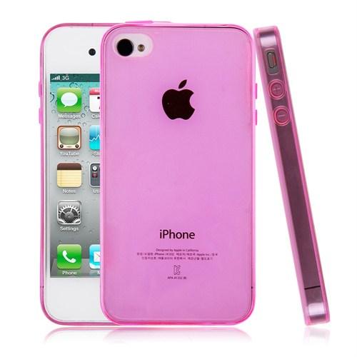 Mycolors Apple iPhone 4/4s Pembe İnce Silikon Arka Kapak - MYC-0224