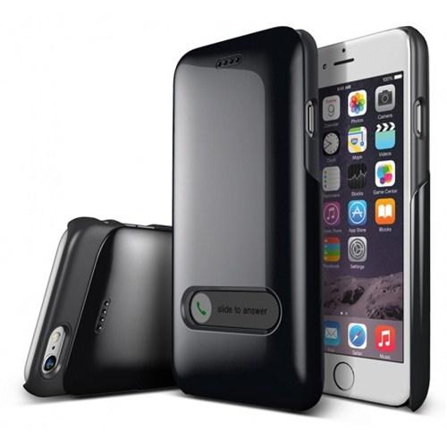 VERUS İphone 6 Kılıf Verus Case Slim Hard Slide Series Siyah
