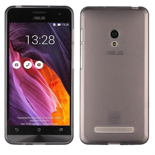 Case 4U Asus Zenfone 2 Ultra İnce Silikon Kılıf Füme