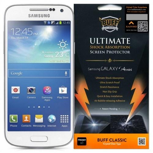 Buff Samsung Galaxy S4 Mini Darbe Emici Ekran Koruyucu Film
