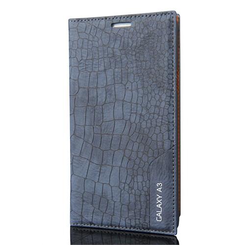 Cover Me Samsung Galaxy A3 Kılıf Düz Deri Rock Lacivert