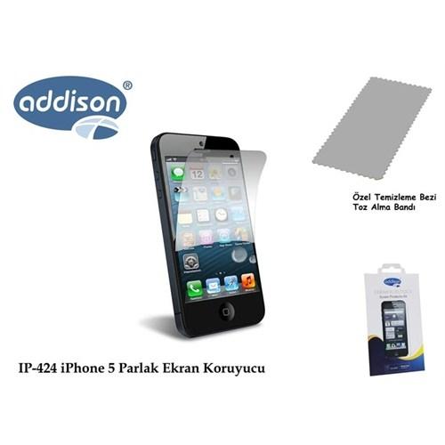 Addison Ip-424 İphone 5 Ultra Şeffaf Ekran Koruyucu