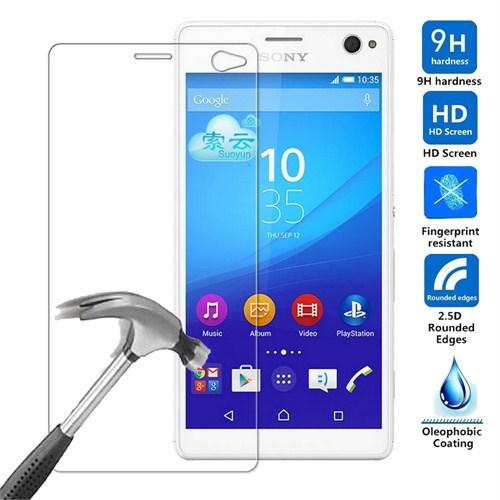 Case 4U Sony Xperia C4 Kırılmaz Cam Ekran Koruyucu