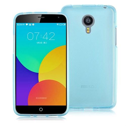 Case 4U Meizu MX4 Pro Ultra İnce Silikon Kılıf Mavi
