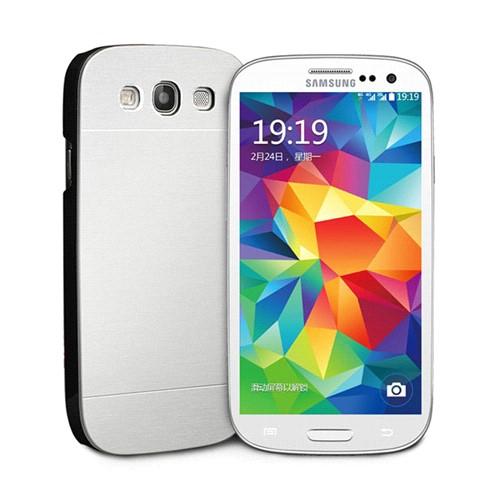 Microsonic Samsung Galaxy S3 Kılıf Hybrid Metal Gümüş