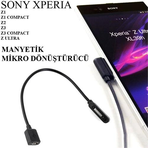 Sony Xperıa Z3 Manyetik Kablo Micro Usb Dönüştürücü