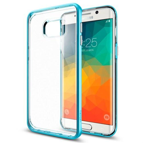 Spigen Samsung Galaxy S6 Edge Plus Kılıf Neo Hybrid Crystal Blue Topaz - SGP11718