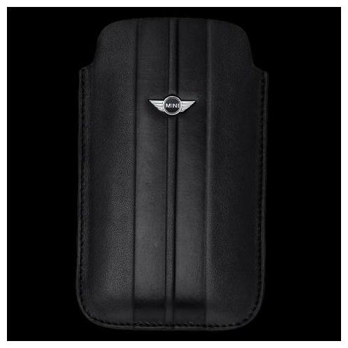 Mini İphone 4/4S Sleeve İngiltere Bayraklı Deri Kılıf (Siyah)