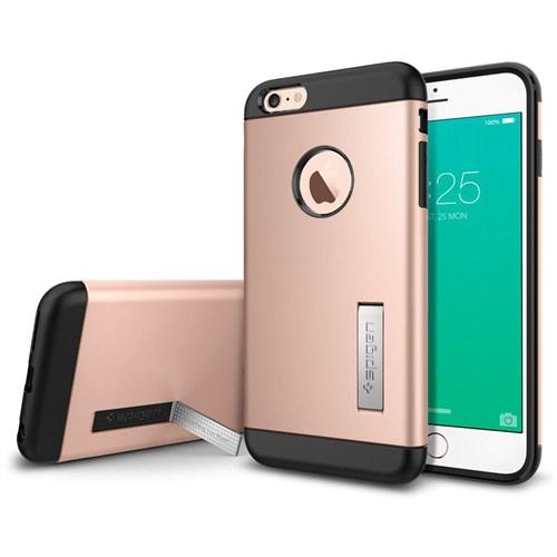 Spigen Sgp iPhone 6S Plus Kılıf Spigen Slim Armor Rose Gold - SGP11727