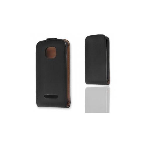 Ally Nokia Asha 311 Siyah Kapaklı Kılıf