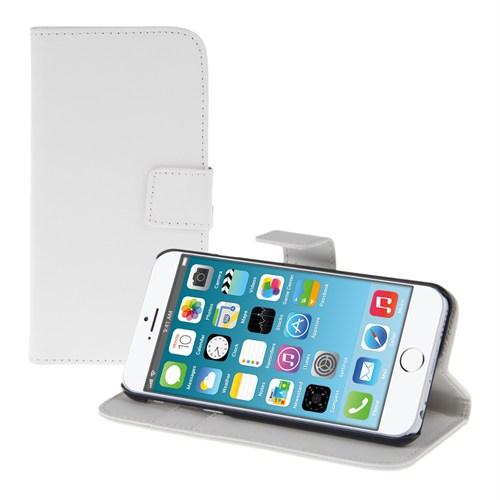 Microsonic Cüzdanlı Standlı Deri İphone 6S Plus Beyaz
