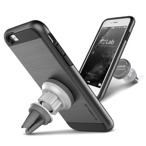Verus İphone 6 Plus 6S Plus Kılıf Mgnetic Flat Series Steel Gri