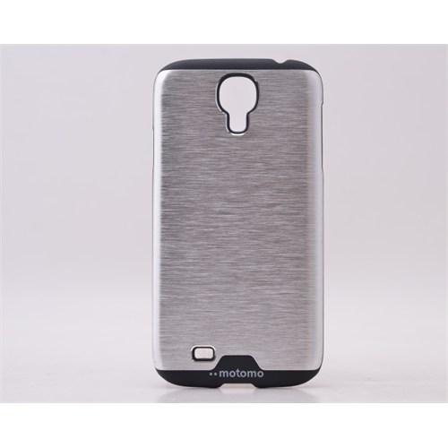 Lopard Samsung Galaxy S5 Kılıf Motto Metalik Arka Kapak Gri