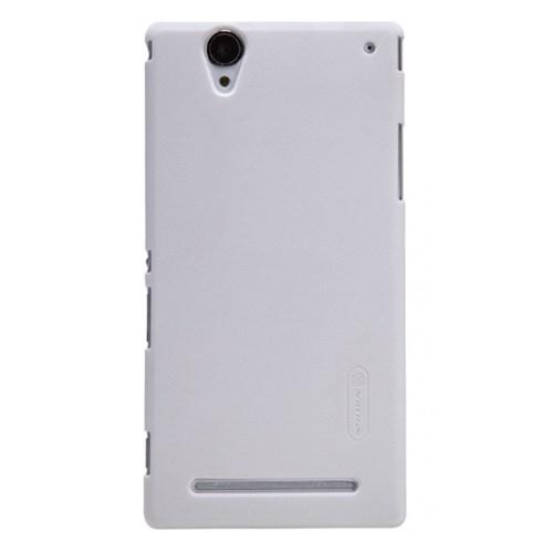 Nillkin Sony Xperia T2 Ultra Kılıf Frosted Sert Arka Kapak Beyaz