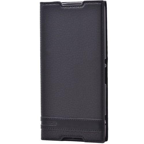 Lopard Samsung Galaxy Note 4 Kılıf Sapphire Kapaklı Deri Görünümlü Mat
