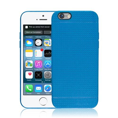 Microsonic Dot Style Silikon İphone 6S Plus 5.5'' Kılıf Mavi