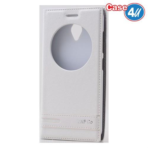 Case 4U Asus Zenfone Go Pencereli Kapaklı Beyaz