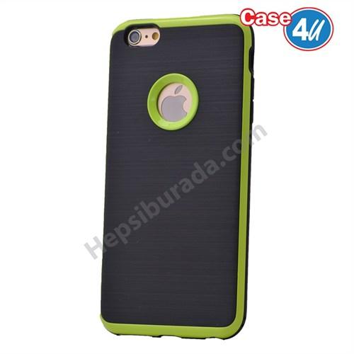 Case 4U Apple İphone 6S Korumalı Arka Kapak Yeşil
