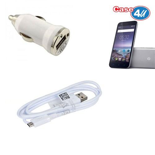 Case 4U Turkcell T60 Araç Şarj Cihazı+Micro Usb Kablo
