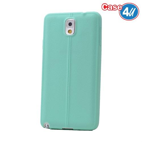 Case 4U Samsung Galaxy Note 3 Desenli Silikon Kılıf Yeşil