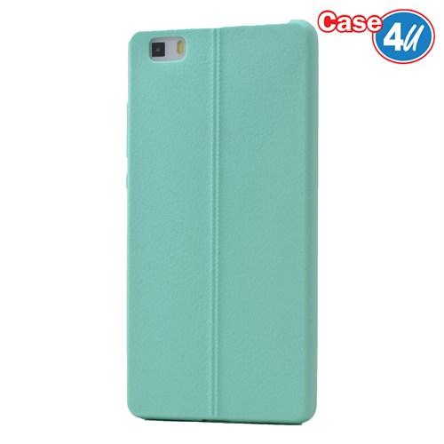 Case 4U Huawei P8 Desenli Silikon Kılıf Yeşil
