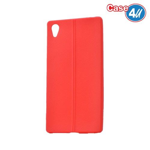 Case 4U Sony Xperia Z5 Desenli Silikon Kılıf Kırmızı