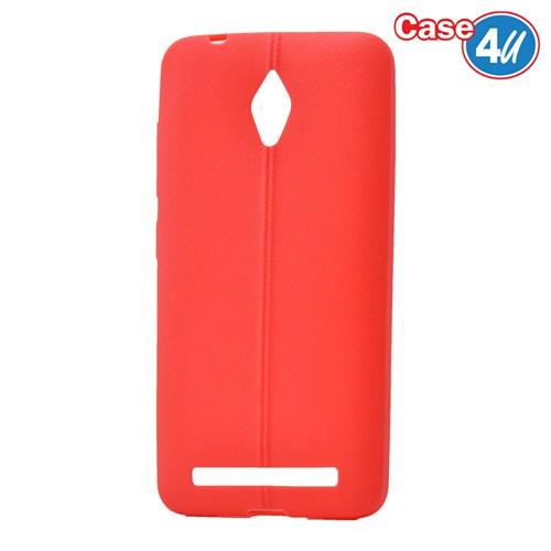 Case 4U Asus Zenfone Go Desenli Silikon Kılıf Kırmızı