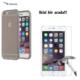 Case Leap İphone 6/6S Plus İnce Silikon Kılıf Siyah + Kırılmaz Cam