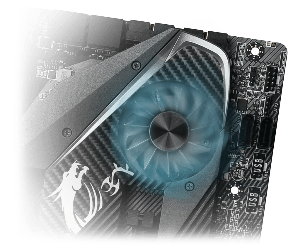 MSI MPG X570 GAMING PRO CARBON WIFI FROZR HEATSINK
